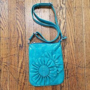 Teal Green Blue Crossbody Bag Purse